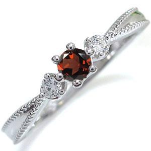 【送料無料】ガーネット エンゲージリング 王冠 10金 エンゲージリング 婚約指輪【RCP】10P06Aug16