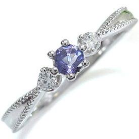 プラチナ 王冠 エンゲージリング タンザナイト 王冠 婚約指輪