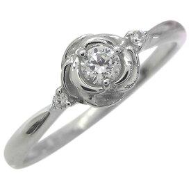 フラワー・指輪・花・10金・ダイヤモンド・リング・婚約指輪