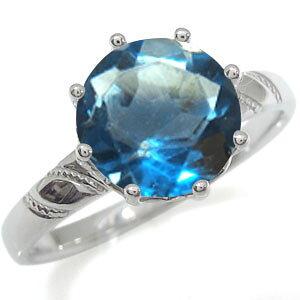 プラチナ 婚約指輪 大粒 エンゲージリング ブルートパーズ 婚約指輪 蔦