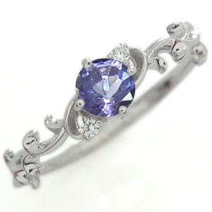 タンザナイト エンゲージリング アラベスク エンゲージリング 唐草 K10 婚約指輪