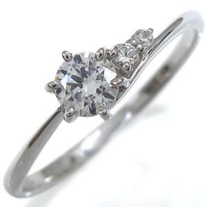 プラチナ 婚約指輪 リング ダイヤモンド プレゼント リング シンプル ラウンドブリリアントカット エンゲージリング