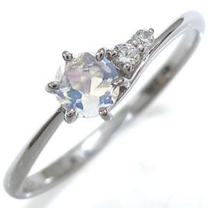 プラチナ 一粒 ロイヤルブルームーンストーン エンゲージリング プレゼント エンゲージリング 婚約指輪