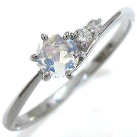 ロイヤルブルームーンストーン エンゲージリング シンプルリング K10 婚約指輪