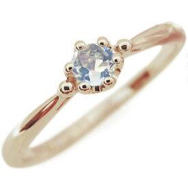 ロイヤルブルームーンストーン エンゲージリング シンプル 王冠 10金 エンゲージリング 婚約指輪