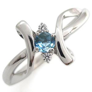 プラチナ エンゲージリング ブルートパーズ エンゲージリング クロス エンゲージリング 婚約指輪