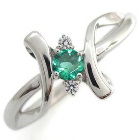 プラチナ エンゲージリング エメラルド エンゲージリング クロス エンゲージリング 婚約指輪