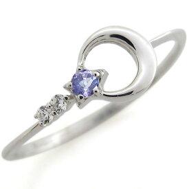 【ポイント5倍】月モチーフ 指輪 誕生石 リング 星モチーフ リング シルバーアクセサリー