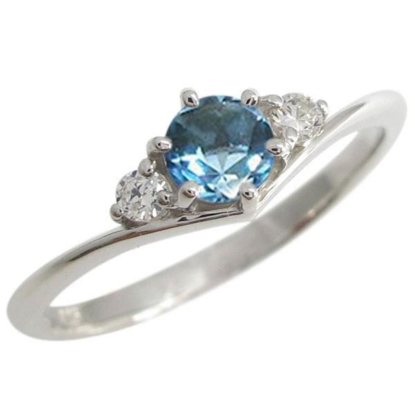 【送料無料】プラチナ 誕生石 Vライン シンプル エンゲージリング 婚約指輪【RCP】10P06Aug16