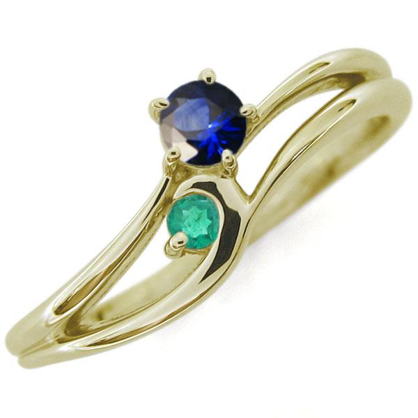 プレゼント ジュエリー サファイア シンプルリング レディースリング K10 婚約指輪