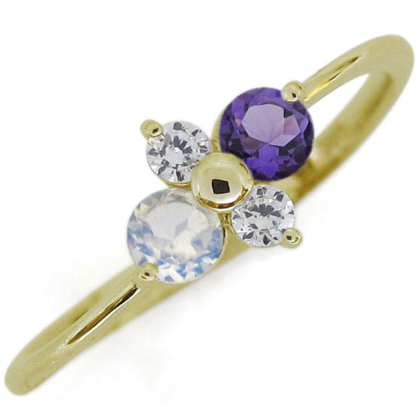 【送料無料】シンプルリング 誕生石 エンゲージリング 上品 K18 婚約指輪 レディース【RCP】10P06Aug16
