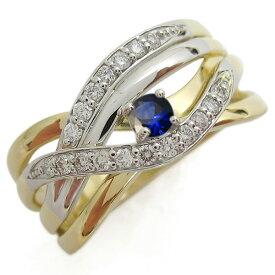 18金 プラチナ コンビリング 誕生石 指輪 ラインリング 上品