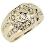 【送料無料】4月誕生石ダイヤモンド・18金・印台・指輪【RCP】10P06Aug16