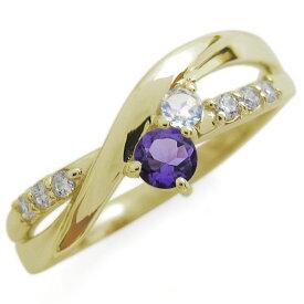 【ポイント5倍】誕生石 シンプルリング天然石 エンゲージリング 18金 婚約指輪