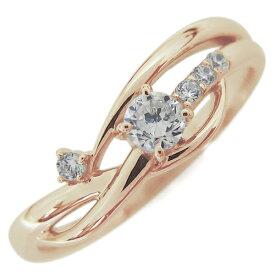 ダイヤモンドリング エンゲージリング 婚約指輪 シンプル 18金