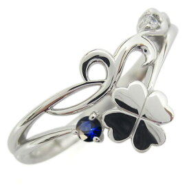 プラチナ レディース 唐草 リング クローバー 誕生石 指輪
