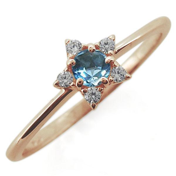 18金 星 誕生石 スターリング 天然石 婚約指輪 レディース