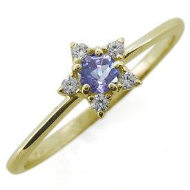 【ポイント5倍】選べる誕生石 10金 星モチーフ レディースリング 婚約指輪 ホワイトデー プレゼント