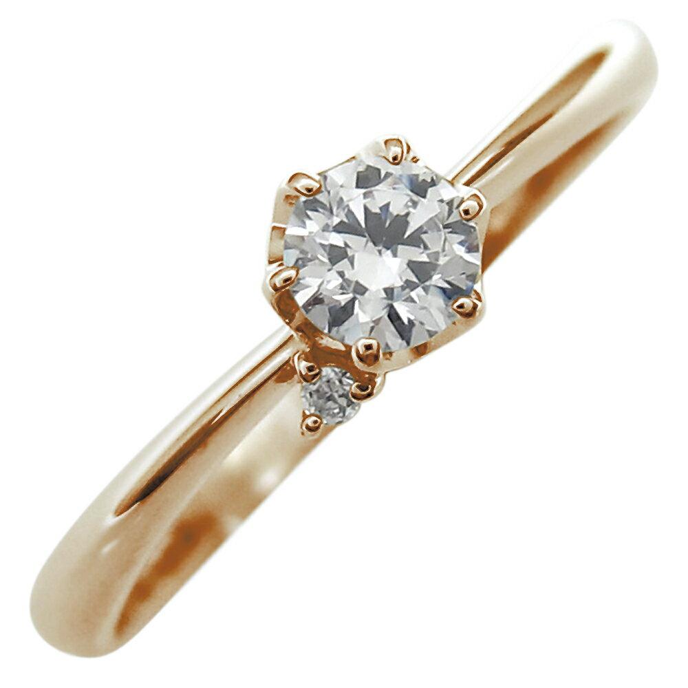 ファランジリング ダイヤモンド エンゲージリング 一粒 婚約指輪 10金