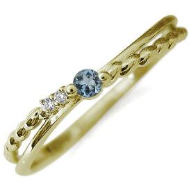 選べる誕生石 指輪 リング 10金 ピンキーリング