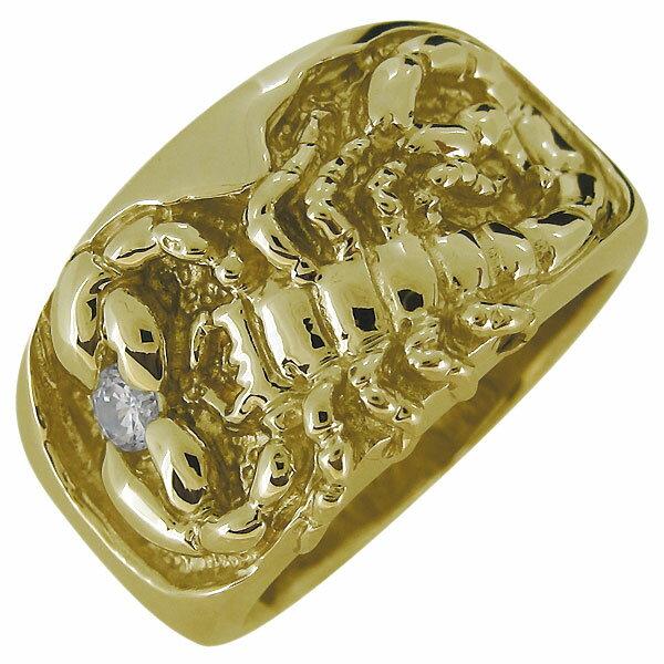 サソリ・蠍・指輪・メンズ・リング・誕生石・10金・スコーピオン・さそり