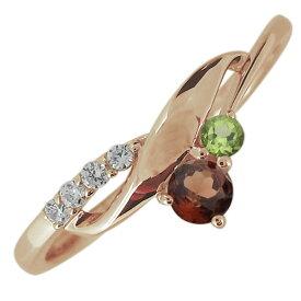 【ポイント5倍】婚約指輪 誕生石 選べる2石 レディース 10金 エンゲージリング