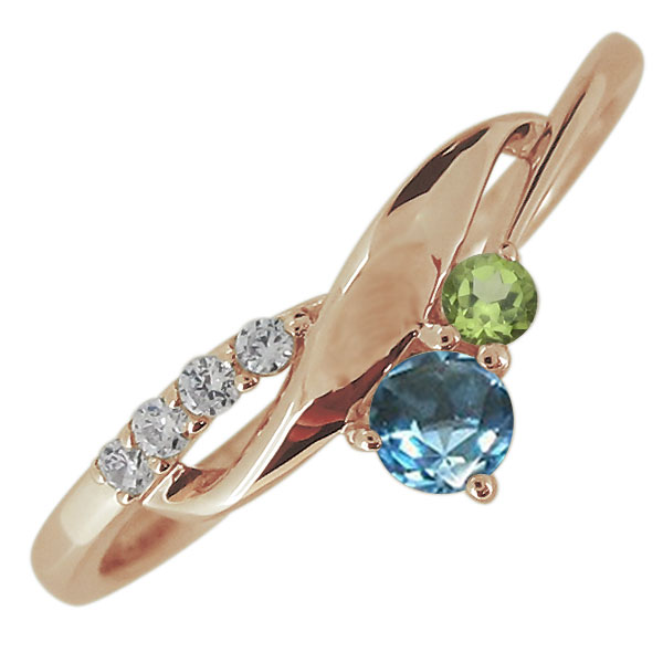 婚約指輪 レディース 天然石 ブルートパーズ リング シンプル エレガント