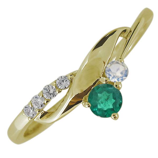 レディース 婚約指輪 誕生石 エンゲージリング 10金