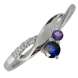 プラチナ 婚約指輪 シンプル エンゲージリング レディース 誕生石 選べる2石