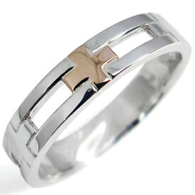 シルバー・クロスリング・結婚指輪・K18PG・ピンキーリング・指輪
