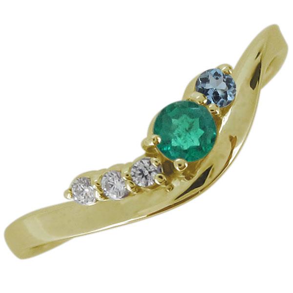 18金 婚約指輪 天然石 選べる エンゲージリング 誕生石 上品