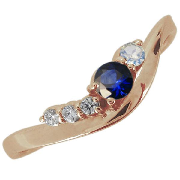 シンプル 婚約指輪 エンゲージリング 選べる誕生石 10金 おしゃれ V字