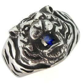 【ポイント5倍以上還元中】23日23:59まで指輪 メンズ シルバー タイガー 虎 メンズリング 天然石 指輪