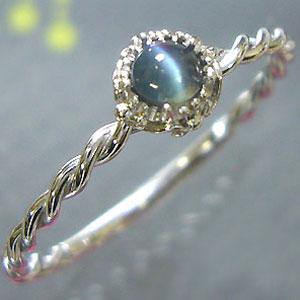 アレキサンドライト キャッツアイ リング K18 シンプル アンティーク 指輪