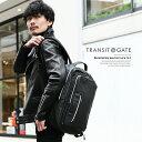リュック ビジネス スクエア リュックサック シンプル おしゃれ ブランド ファスナー ブラック TransitGate