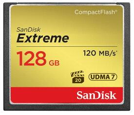 【日本国内版/無期限保証付き】サンディスク(SanDisk) エクストリーム 超高速 コンパクトフラッシュ カード 128GB UDMA7 800倍速 読込み120MB/s 書込み85Mb/s VPG20対応 Extream SDCFXSB-128G-J61 永久保証