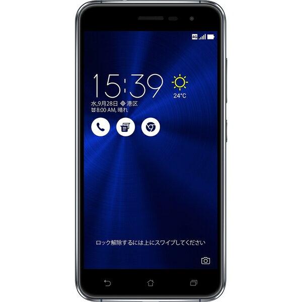 ASUS(エイスース) ZenFone 3 SIMフリースマートフォン サファイアブラック ( ZE520KL-BK32S3 ) Android オクタコア 5.2インチ メモリ 3GB ストレージ 32GB