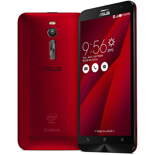 ASUS(エイスース) ZenFone 2 SIMフリースマートフォン レッド ( ZE551ML-RD32S4 ) Android Atom Quad Core Z3580 5.5インチ メモリ 4GB ストレージ 32GB
