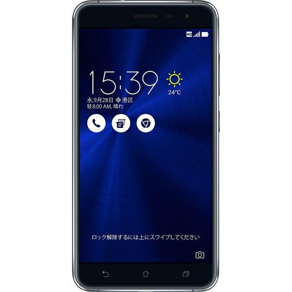 ASUS(エイスース) ZenFone 3 SIMフリースマートフォン サファイアブラック ( ZE552KL-BK64S4 ) Android オクタコア 5.5インチ メモリ 4GB ストレージ 64GB