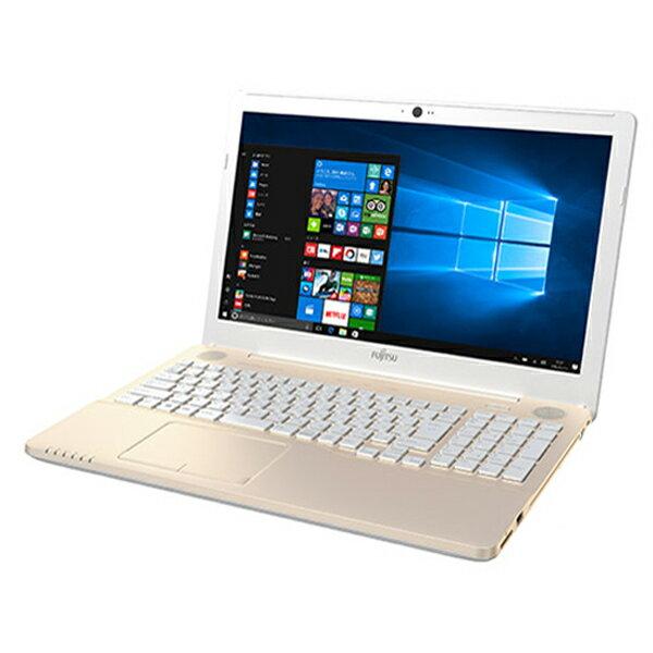 富士通 FMV LIFEBOOK A42B2G ( FMVA42B2G ) Windows10 Celeron 15.6インチ メモリ 4GB HDD 1TB DVDスーパーマルチドライブ テンキーあり Office付き シャンパンゴールド