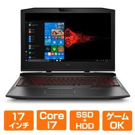 17.3インチ 144Hz フルHD Core i7 メモリ 32GB HDD 1TB + SSD 512GB GeForce GTX 1080 Windows10 Pro HP ( ヒューレットパッカード ) OMEN X by HP 17-ap034TX エクストリームプラスモデル ( 3PD79PA#ABJ ) ノートパソコン ノートPC パソコン 新品 ゲーミング ゲーム用