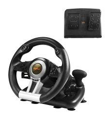 PXN レーシングホイール ハンドル コントローラー ペダル 付き PXN-V3IIB Playstation4 / PC 対応 ゲーミング