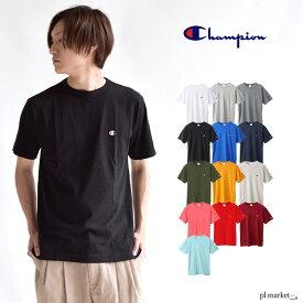 champion tシャツ チャンピオン Tシャツ Champion CHAMPION C3-P300 Championロゴ 定番無地Tシャツ ベーシックライン ワンポイント シンプルT 無地 メンズ半袖Tシャツ 刺繍ロゴT 2019SSモデル CロゴT 白T 黒T C3-H359