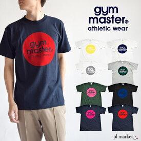 ジムマスター tシャツ gymmaster t g799301 サークルロゴT ロゴT T-shirt ロゴ プリントT フロッキープリント コットン 綿 マルチカラー カラフル シンプル ベージック カジュアル アメカジ