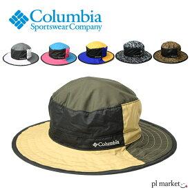 ◆columbia 帽子 コロンビア サファリハット 撥水サンシェードアドベンチャーハット(PU5043) UPF50 ツバ広 マリンハット レディース メンズ 日よけ収納 通気性 帽子 アウトドア 紫外線99.9%カット 日除けガード UV レインハット 登山プール 海 キャンプ