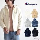 ◆Champion CHAMPION チャンピオン ボアフリースフードパーカージャケット(c3-l615) ジップパーカー メンズ/レディース ユニセックス プルオーバー フード パーカートップス プルパーカー 長袖 無地 BASIC ボア もこもこ/ワンポイントロゴ 部屋着