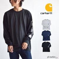 カーハートロンTcarhartttシャツメンズcarharttロンt長袖SMTシャツポケットレディース黒ブラックグレーヘザーグレーオリジナルフィットアメカジクルーネックポケ付きロンTタグコットンロングスリーブロングK126リブ大きいサイズ