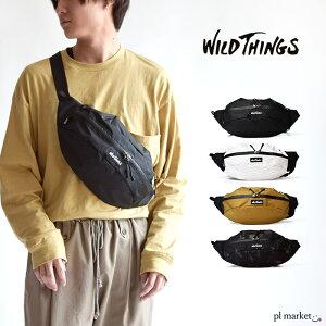 ◆ WILDTHINGS ワイルドシングス バッグ 軽量 軽い ボディバッグ ワンショルダー バッグ ウエストポーチ ウエストバッグ かばん シンプル おしゃれ 人気 旅行 斜めがけ ウエストバッグ スタンダ