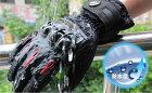 【送料無料】プロテクター バイクグローブ バイク手袋 グローブ スマホ対応 防水手袋 レイングローブ 防水 防寒 冬用 ツーリング 安全 おしゃれ 黒 赤 青 ブラック レッド ブルー