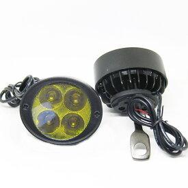 バイク 高光量 イエロー4LED フォグランプ 2個セット ボールジョイントで調整簡単 10mm LEDフォグランプ LEDバルブ バイク用